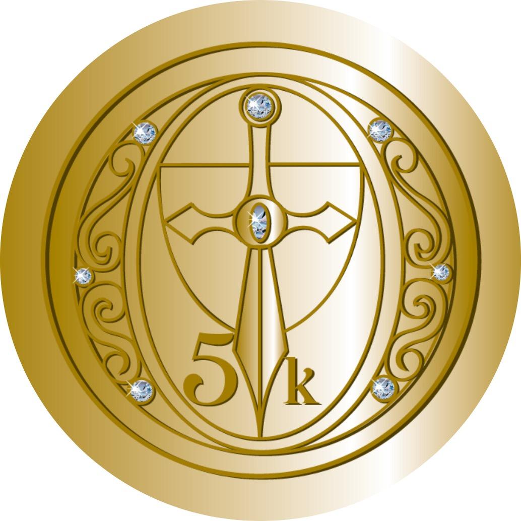 5km-Medaille: Entfessle den Prinzen in Dir
